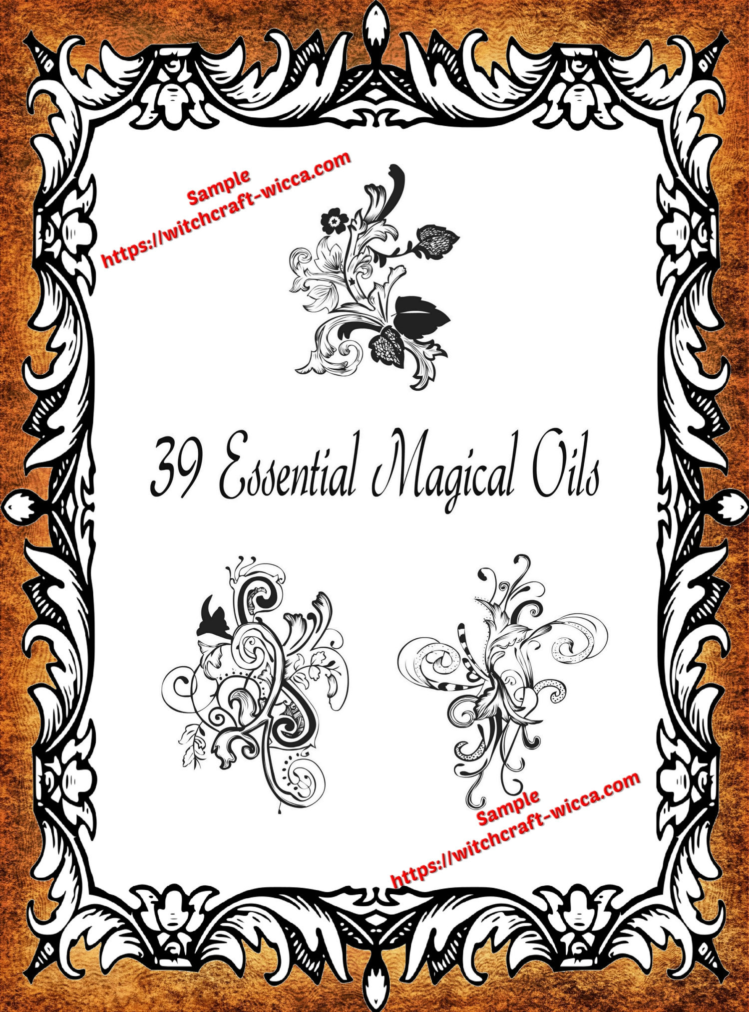 photograph relating to Printable Book of Shadows referred to as 39 Imperative Magical Oils - PDF Printable Reserve of Shadows Webpages, Ebook of Shadows prompt obtain