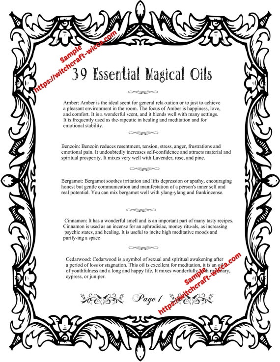 image about Printable Book Shadows Pages known as Printable Reserve of Shadows 8 Internet pages for Coloring 39 Magic Significant Oils and How toward Retain the services of Them for Spells- (8 PDFs)
