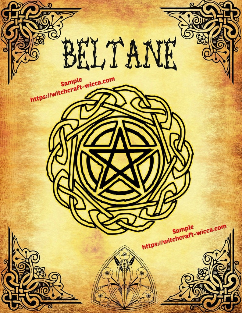 Beltane Pagan Rituals - BOS 8 Pages Pagan Wicca Wheel of the Year-  Printables