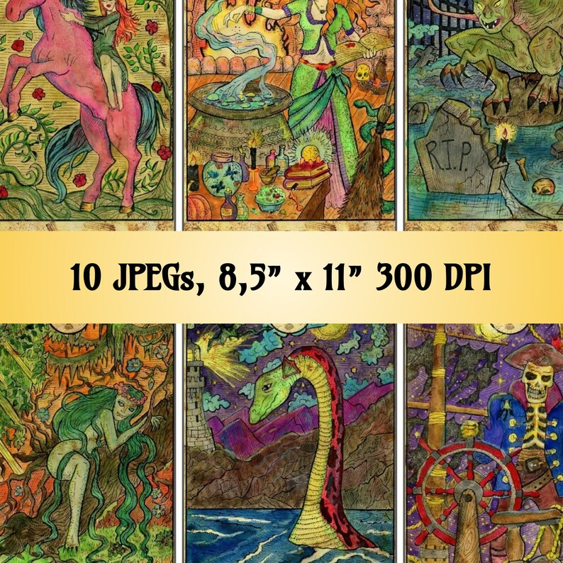 78 Unique Tarot deck bridge size Illustrated cards devils ...
