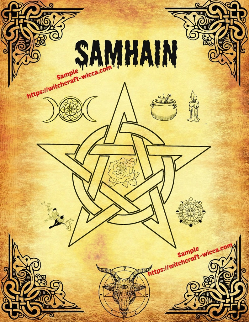 Samhain Book of Shadows instant download - Sabbatical Seasons Poster -  Pagan, Druid, Alternative Religion PDF