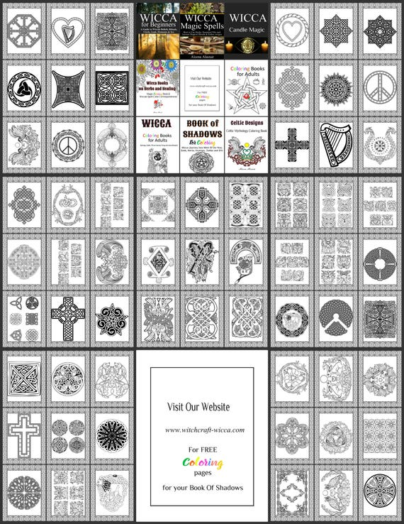 70 Celtic Book Of Shadow Coloring Pages Printable Pdf Etsy