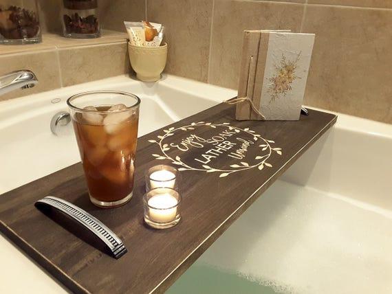 Bath Tray Bath Shelf Bath Caddy Bath Tub Caddy Bath | Etsy