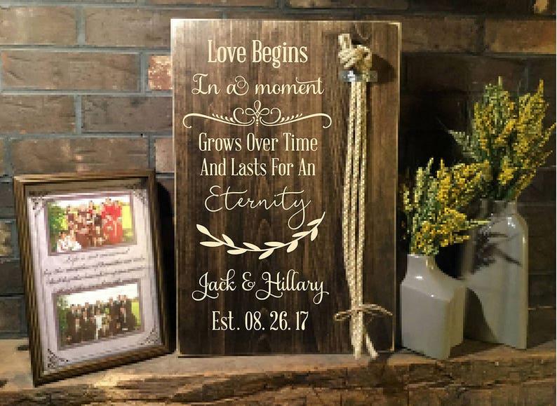 Wood Wedding Sign Wedding Braid God/'s Knot Unity Knot Wedding Personalized Gift Braid For Unity Ceremony Cord Of Three Strands