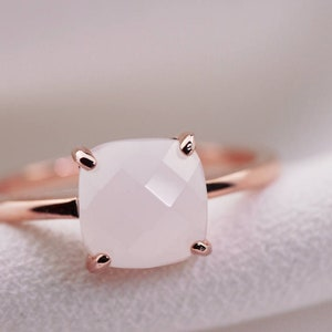 Unique Stacking Ring 14K Vermeil Rose Gold Bridal Bridesmaids Gift For Her Wedding Promise TROVE Sterling Silver Dainty Scattered Ring