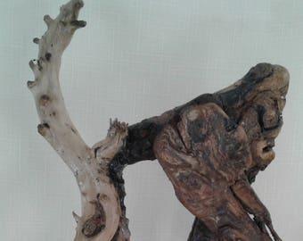 handmade driftwood sculpture