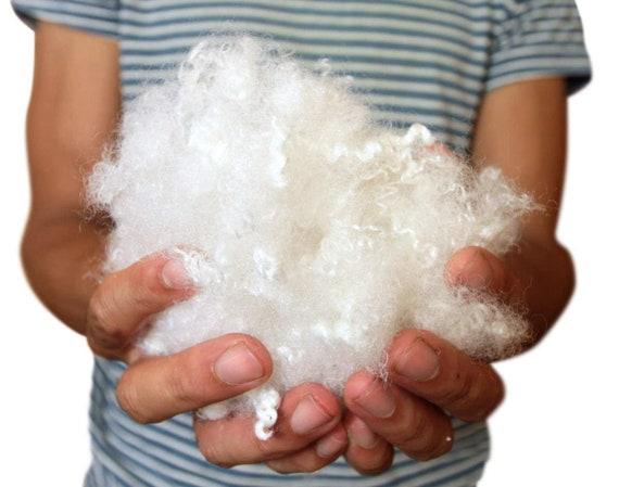Big Plush 8 Ounces Premium Polyester Fiber White Fiberfill Stuffing Moderately
