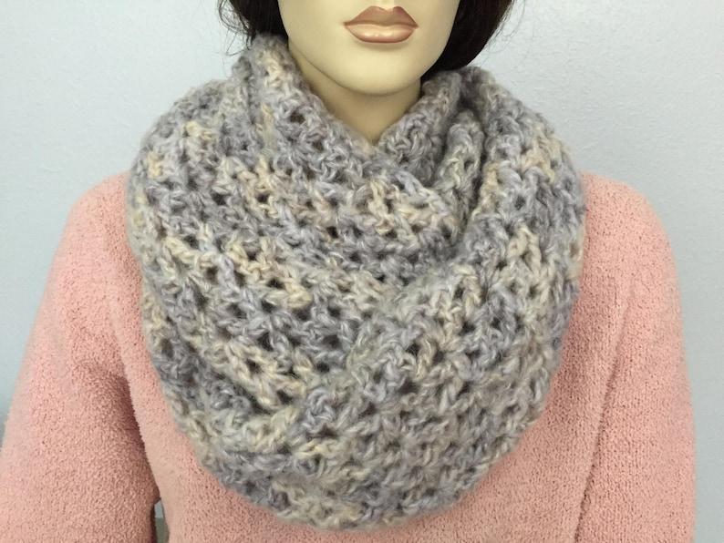 ff35d384a42 Women Croshet Infinity Scarf Women Knit Cowl Chunky Cowl Women Winter  Accessories Christmas Gift under 50