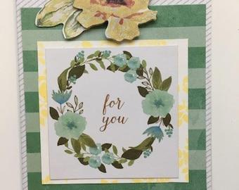 "Handmade ""For You"" Card"