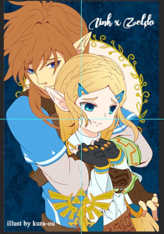 Legend Of Zelda Breath Of The Wild Link And Zelda Limited Edition Prism Postcard