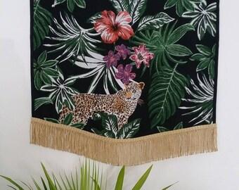 Wall Hanging, Tropical Print, Wall Decor, Wall Art