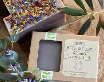 SONOMA LAVENDER HERB / Natural Cold Process Lavender Soap / Handmade Soap by Novo Bath & Body / Zero Waste / made in Sonoma County, Ca