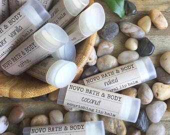 LIP BALM   Nourishing Lip Balm Lip Care   All Natural Lip Balm   skin balm   Handcrafted by Novo Bath & Body in Sonoma County, Ca