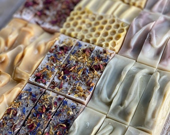 YOU CHOOSE 4 SOAPS - Choose any 4 soap bars // Handmade Cold Processed Soap // essential oil soap // made in Sonoma County Ca