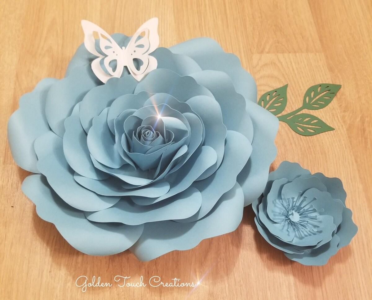 Rosies Rose Diy Pdf Paper Flower Digital Download Etsy
