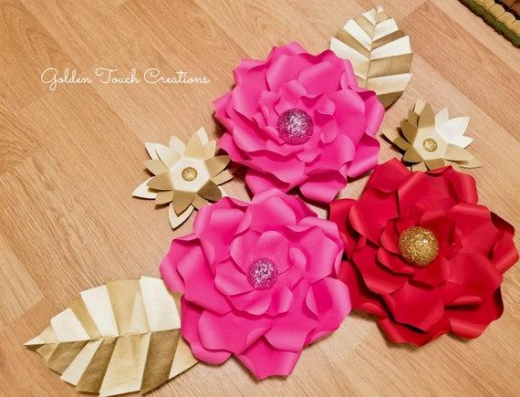 Template 4 hard copies diy paper flower backdrop wedding etsy image 0 mightylinksfo