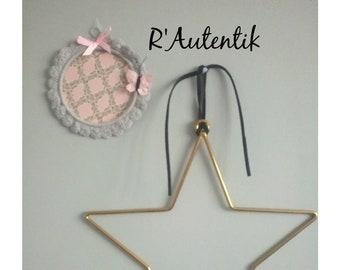 Mini decorative frames for crochet children's room