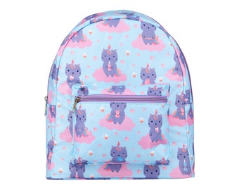 Personalised Children's Caticorn Backpack, Embroidered Name