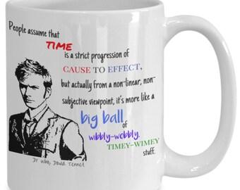 Wibbly wobbly timey wimey dr who mug