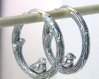 9fa86cff2 AUTHENTIC PANDORA Spring Bird Hoop Earrings 297072 #1419 pouch valentine's  day
