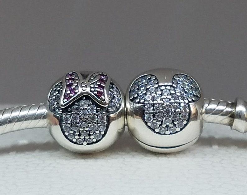 8871eddba Set of 2 Pandora Disney Minnie Mickey Mouse Pave Clips gifts | Etsy