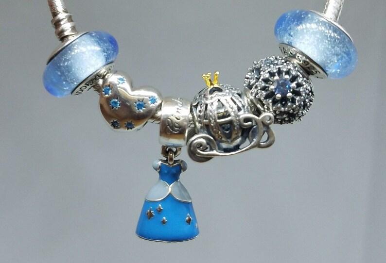 b9e3d3c70 Set of 6 pieces Pandora Disney Charmdream wish dress | Etsy