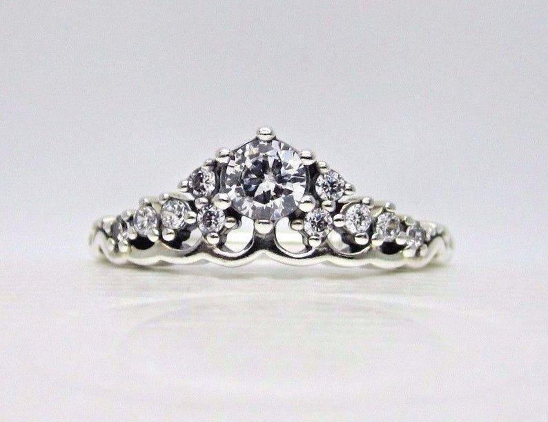 3357c0468 Newnew PANDORA Pandora Fairytale Tiara Ring56 789   Etsy