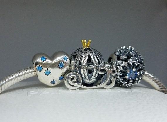 e1259c3a1 Set of 3 pieces Pandora Disney Cinderella 3 pcs 3 pcs Pandora | Etsy