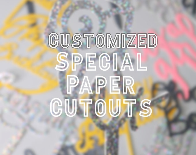 Customized Special Paper Cutouts