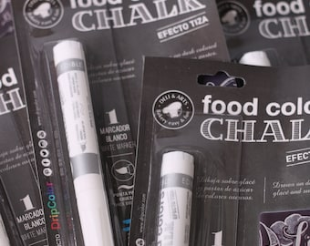 Food ColorWhite Chalk Pen