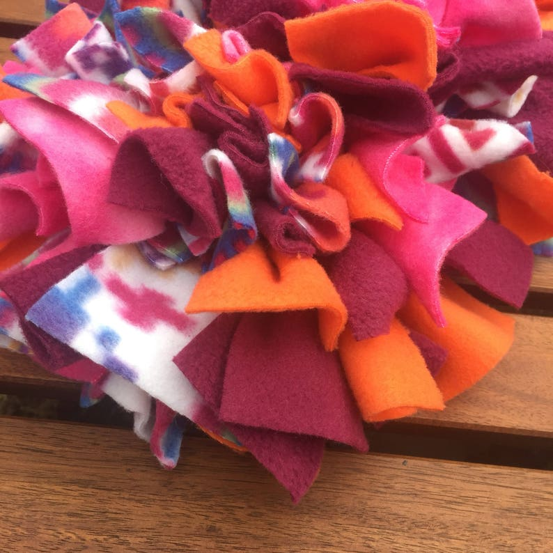 Pink /& Orange Snuffle Mat Dog Toy  Slow Feeder  Puzzle Toy  Sniffing Mat
