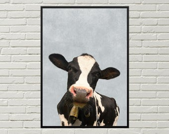 COW picture, cow wall decor, printable art, country decor, kitchen art, cute cow print, cow art, farm art, farm print, digital download