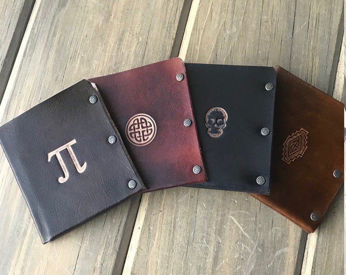 Slotted Bifold Wallet with Optional Stamp and Initials