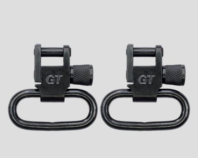 GrovTec sling swivel in black or brushed nickel, 1- or 1.25-inch.