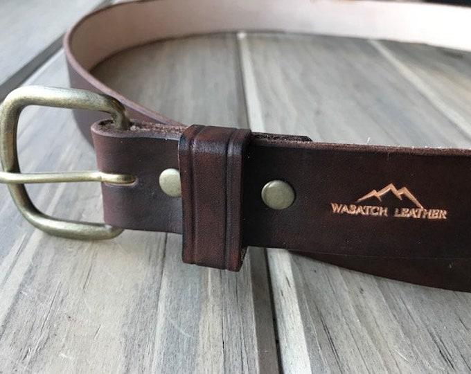 Essential Brown Leather Belt