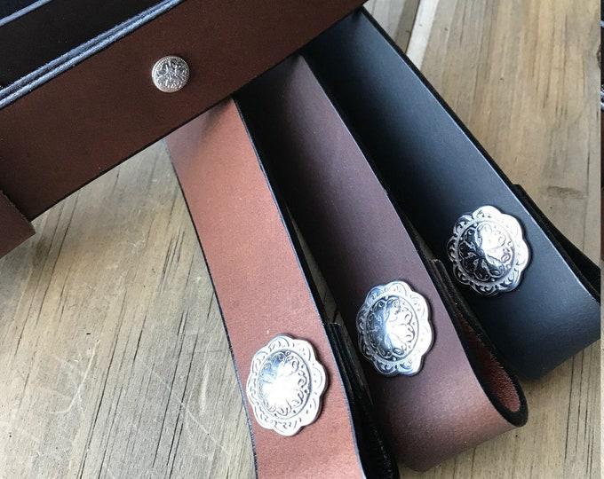Buffalo Leather Adjustable Rifle Sling, Black, Light Brown or Chocolate, 1.25 inch