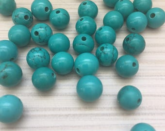 Natural Turquoise beads 8 mm