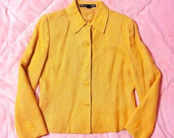 Vintage Orange Blazer Jacket, Vintage Tangerine Orange Blazer Jacket, Orange Blazer, Orange Jacket