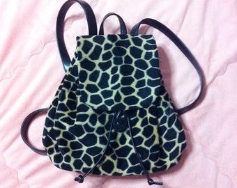 0366f532e8 Vintage Animal Print Mini Backpack