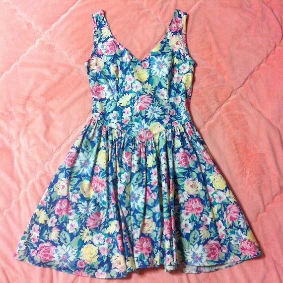 LAURA ASHLEY Vintage Cotton Floral Dress, Vintage
