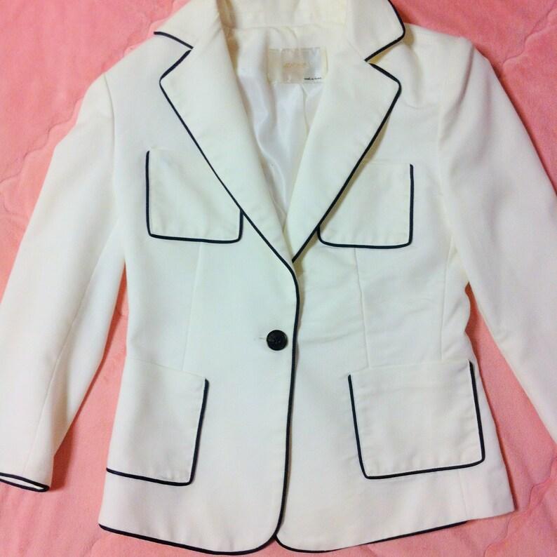 90s White Blazer White Fitted Blazer Jacket Vintage Classic White Blazer Vintage White Blazer Jacket White Blazer White Black Blazer