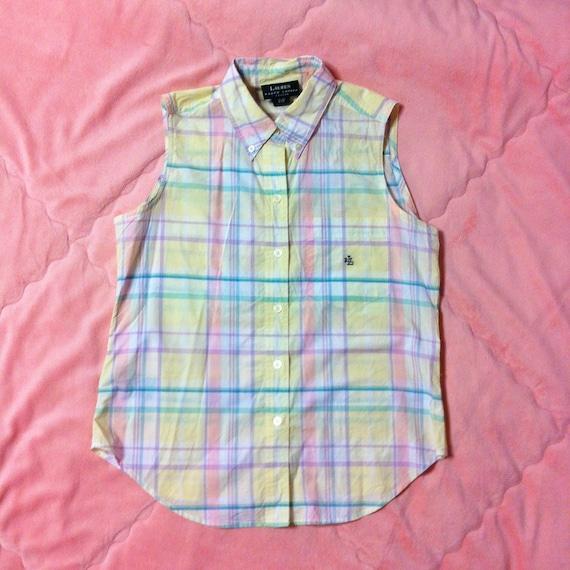 Vintage Ralph Lauren Pastel Plaid Shirt, Vintage R