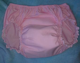Adult Baby Sissy PINK Training Panties Diaper Cover Dress up ABDL Crossdresser Cosplay Anime