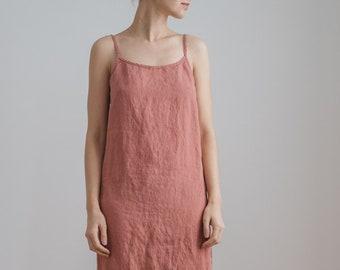 a6ab23d2b948 Long sleepwear / Camisole dress / Long cami dress / Maxi linen dress / Linen  night dress / Linen nightgown / Summer dress / Strappy dress