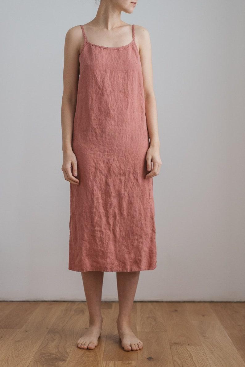 4d230f27b894 Long sleepwear / Camisole dress / Long cami dress / Maxi linen | Etsy