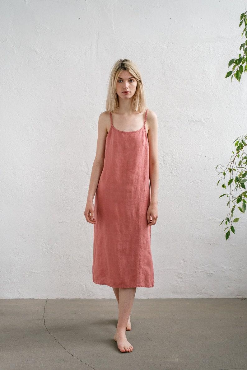 b399bb11d6cb Long linen dress / Camisole dress / Maxi linen dress/ Long | Etsy
