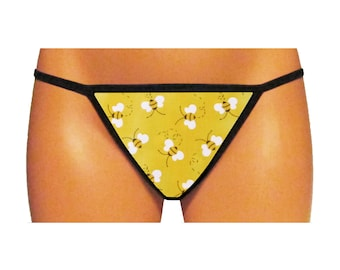 Yellow Bumblebees Thong/G-String