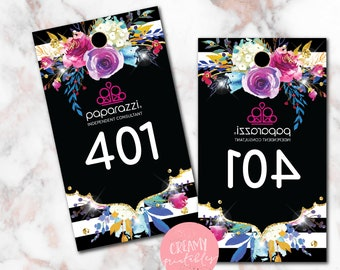 Printable Paparazzi numbers, Paparazzi Jewelry live sale numbers, Normal-Mirrored number tags, 001-500, Printable PDF, Purple Flower