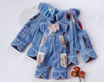Denim overalls  - Blythe clothes - Blythe outfit  - Blythe