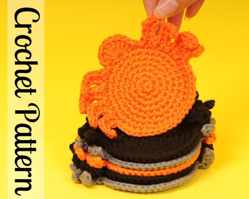 Spider Coaster  Crochet Coaster Pattern  Crochet Spider image 0